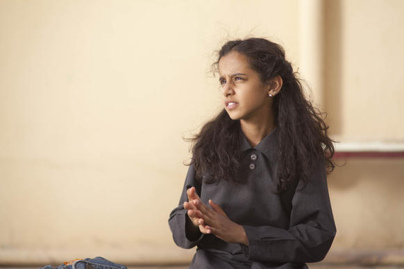 "Waad Mohammed, 12, stars as the plucky title character in ""Wadjda,"" by Saudi director Haifaa Mansour."