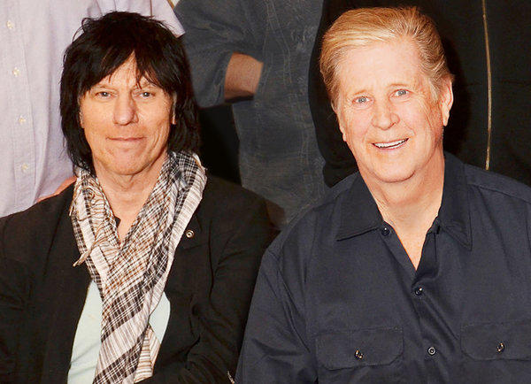 Jeff Beck, left, and Brian Wilson