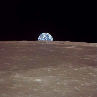 NASA's first Instagram photo: A view of Earth as seen from the moon in 1969.
