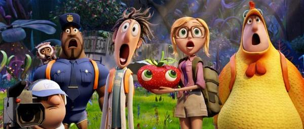 "For its ""Cloudy With a Chance of Meatballs"" sequel promotion, Sony is working with hunger, produce and nutrition sites."