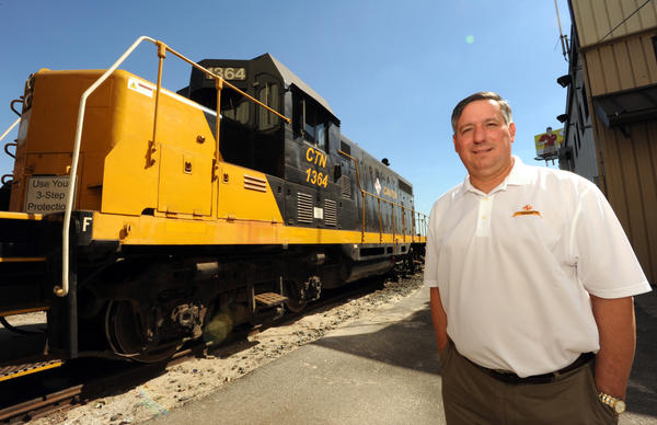 Baltimore, MD- 9/6/13-John C. Magness is president and CEO of Canton Railroad. Algerina Perna/Baltimore Sun, #5441.