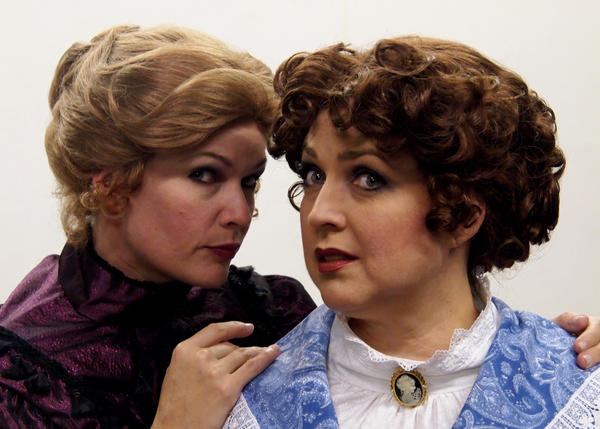 "Blue and Andrea Canny star in ""Lizzie Borden: The Musical."""