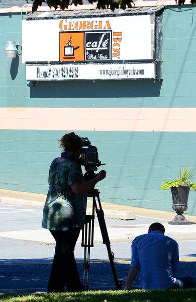 A film crew started filming at the Georgia Boy Cafe Friday afternoon in advance of the weekend's massive renovation to the Hagerstown restaurant/bar.