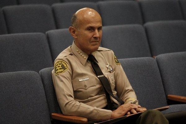 Los Angeles County Sheriff Lee Baca attends a Board of Supervisors meeting last month.