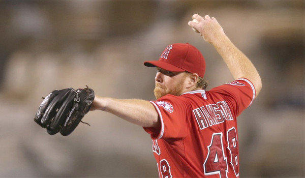 Angels pitcher Tommy Hanson allowed just three runs and three hits through six innings in a Pacific Coast League playoff victory over Las Vegas for Salt Lake, 5-4, on Thursday.