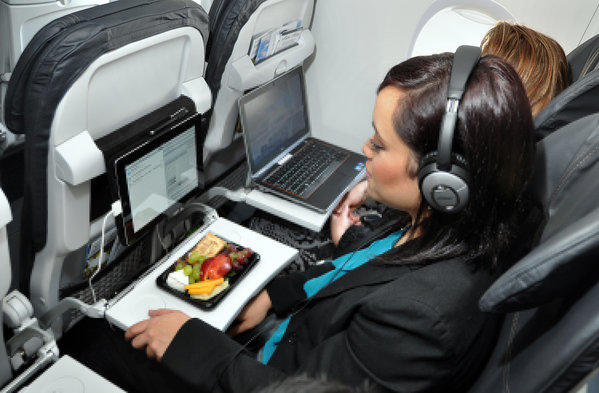 Some fliers would give up comfort, quiet and bathrooms for Wi-Fi on planes.