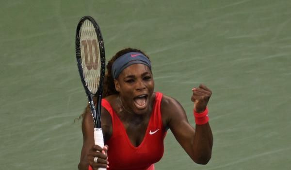 Serena Williams celebrates after defeating Li Na in the semifinals of the U.S. Open on Friday.