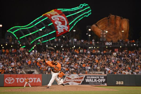 Giants starting pitcher Yusmeiro Petit delivers a pitch against the Diamondbacks during the sixth inning at AT&T Park.