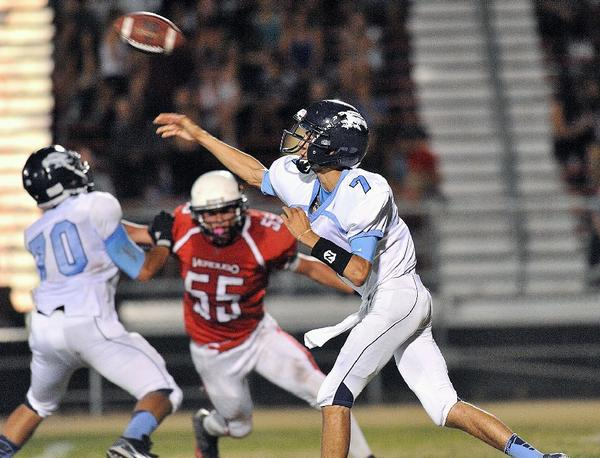Crescenta Valley High junior quarterback Brian Gadbsy completed 13 of 23 passes for 174 yards and six touchdowns against Verdugo Hills.