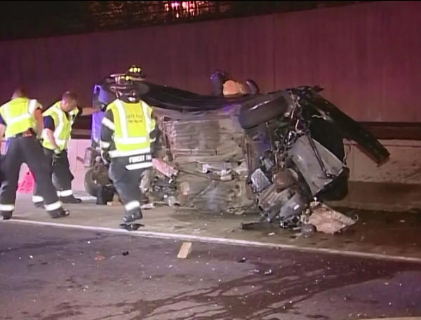 Illinois State Police investigate the scene of a fatal crash on the Eisenhower Expressway on Sept. 7.