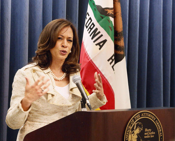 California Atty. Gen. Kamala Harris announced a settlement with Help Hospitalized Veterans, a charity accused of malfeasance.