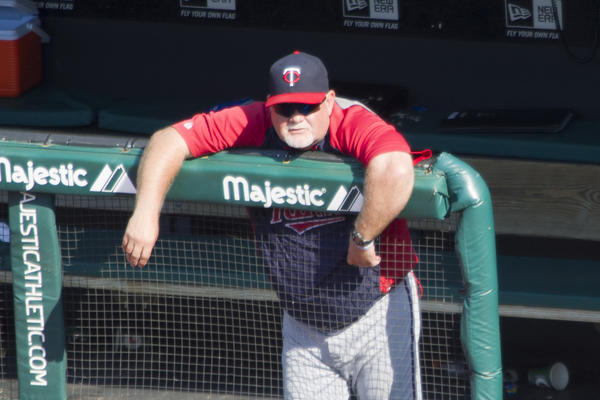 Twins manager Ron Gardenhire watches from the dugout in the ninth inning against the Indians at Progressive Field.