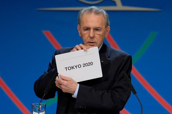 International Olympic Committee President Jacques Rogge announces that Tokyo will be the site of the 2020 Summer Olympics during a session of the IOC in Buenos Aires.