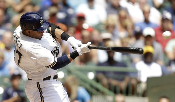 Milwaukee Brewers outfielder Carlos Gomez has a career-high 19 home runs this season.