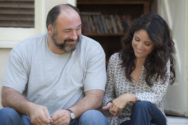 "In one of his final films, James Gandolfini co-stars with Julia Louis-Dreyfus in ""Enough Said."""