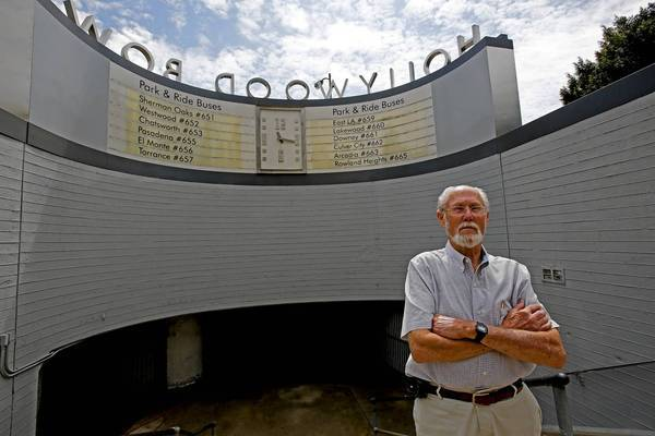 "John Boal of Upland stands near the hot, claustrophobic tunnel at the Hollywood Bowl that leads to the buses and shuttles that take him and other concertgoers to their cars. ""It's packed wall to wall with people,"" said Boal, 72. ""It's horrible."""