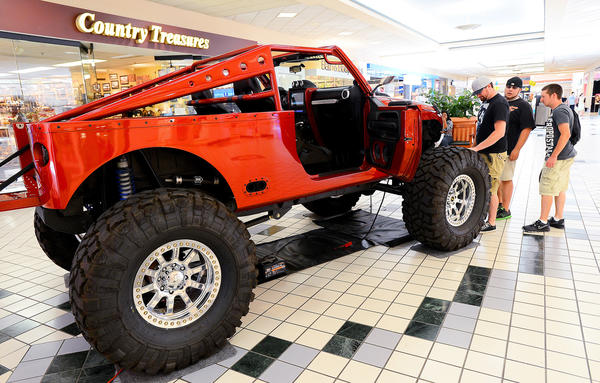 This tricked out Jeep was very popular during the Lavish Living show Saturday at the Valley Mall.