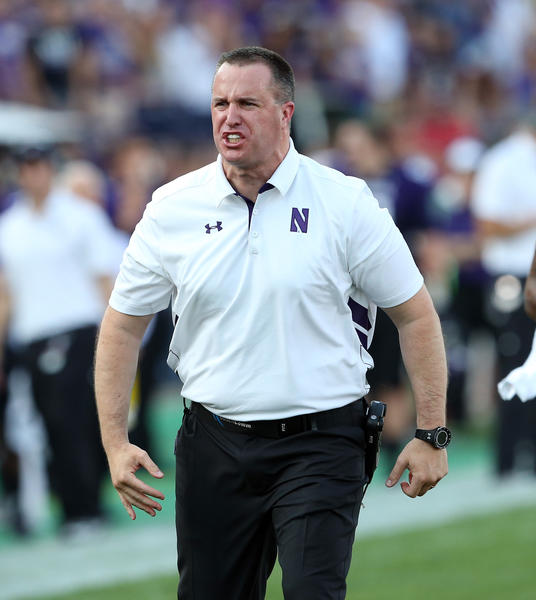 Northwestern coach Pat Fitzgerald during the first half.