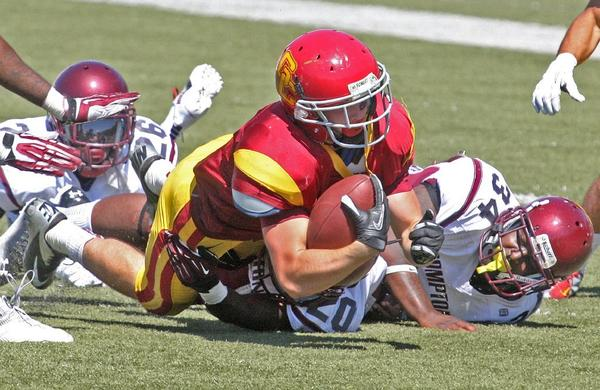 Glendale Community College football's Brock Kap had a good start to the 2013 season in the Vaqueros' passing game Saturday.