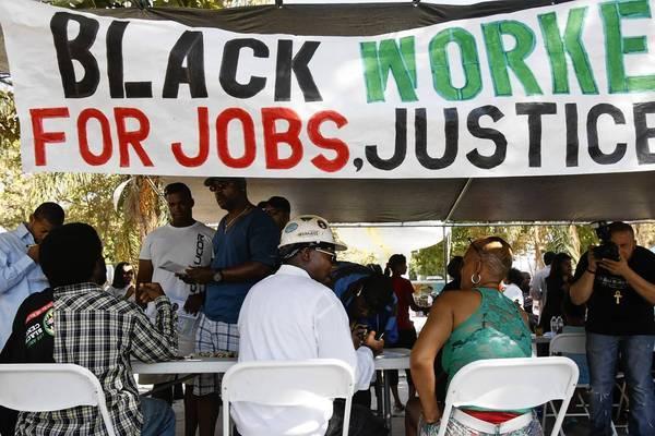 Jobs rally