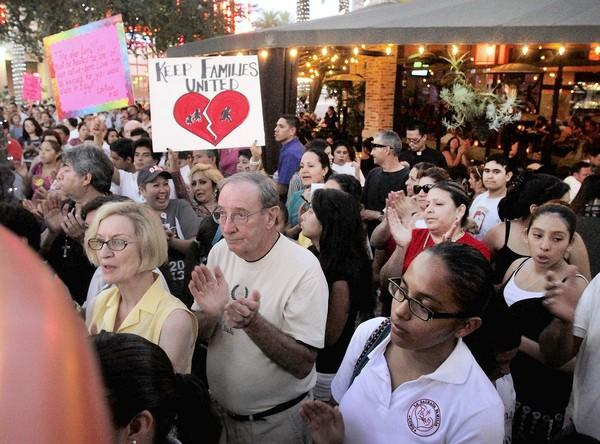 Roman Catholics from Los Angeles and Orange counties march last month in Brea in support of immigration reform. For the month of September, clergy have been urged to address the issue from the pulpit.