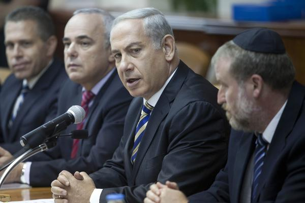Israeli Prime Minister Benjamin Netanyahu, shown attending a weekly cabinet meeting in Jerusalem last Sunday, has discounted greetings sent by Iranian officials as a ploy.