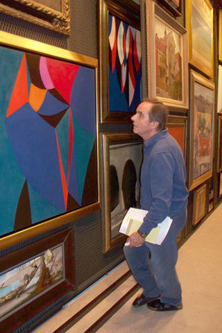 Gerald Buck, an Orange County businessman who had a vast personal collection of 20th century art that he sometimes loaned to area museums, has died. He was 73. Photo of Gerald Buck at his private, invitation-only art display space in Laguna Beach, looking at some of the artworks in storage...