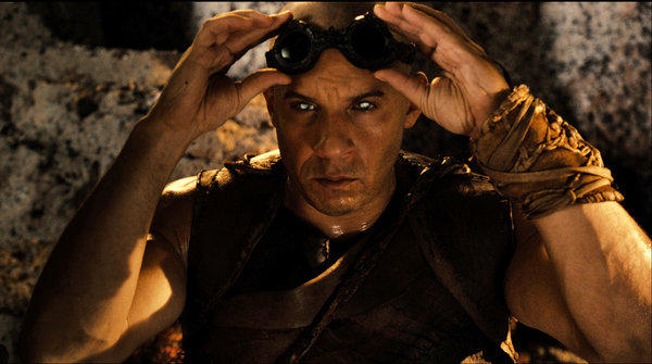"Vin Diesel in a scene from ""Riddick."" The film premiered at No. 1 at the box office with an estimated $18.7 million."