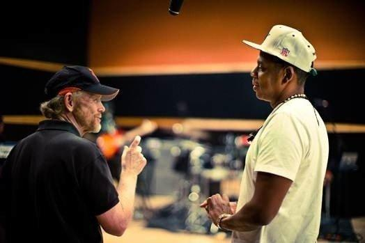 "Unlikely collaborators: Ron Howard and Jay Z in the documentary ""Made in America."""
