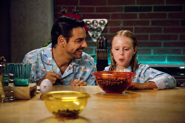 """Eugenio Derbez as Valentin and Loreto Peralta as Maggie in """"Instructions Not Included,"""" which has been a surprise hit at the box office."""