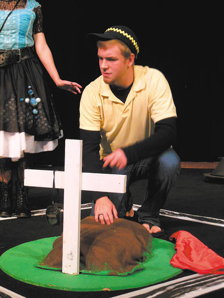 """C.J. Witt played the role of C.B. in the """"Dog Sees God  Confessions of a Teenage Blockhead"""" play over the weekend at Martinsburg (W.Va.) High School."""