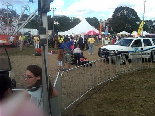 Thirteen children were hurt when an amusement park ride malfunctioned at the Norwalk, Conn., Oyster Festival.