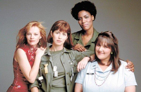 """China Beach"" starred Marg Helgenberger, left, Dana Delany, Nancy Giles and Ricki Lake. All four will be at a Friday reunion."