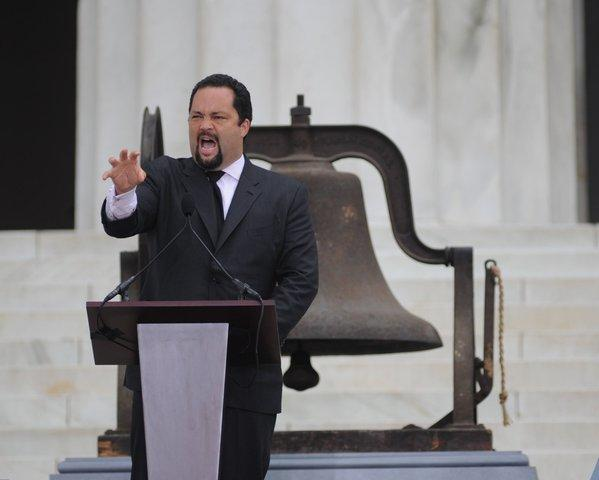 NAACP President Benjamin Jealous speaks at the 50th anniversary of the March on Washington last month.