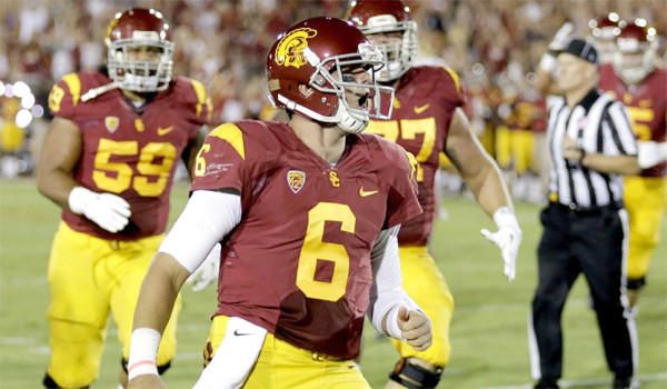 USC quarterback Cody Kessler completed 8 of 13 passes for 41 yards and an interception against Washington State in the Trojans' 10-7 loss to the Cougars on Saturday.