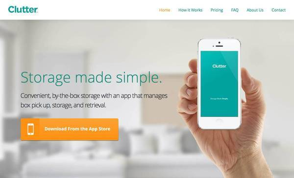 Self-storage app Clutter aims to help users organize and clean up their lives.