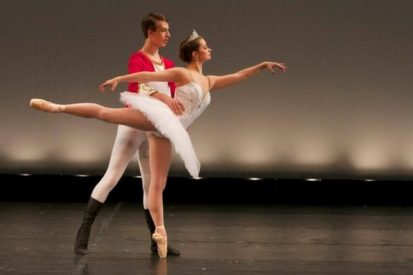Michael Menghini, with Ellie Conners, perform in 2012 as the Nutcracker and Snow Queen with Crooked Tree Arts Center's School of Ballet. This year's production will be Dec. 21-22.