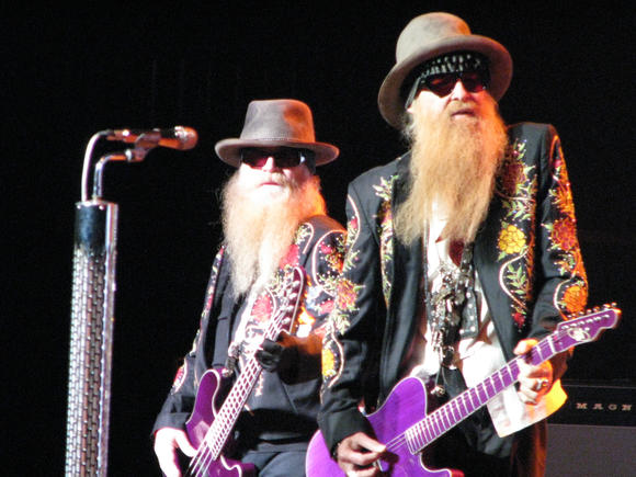 Dusty Hill, left, and Billy Gibbons rock at Ferguson Center for the Arts on Sunday, Sept. 8, 2013.