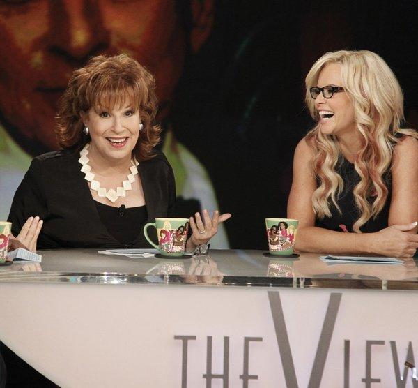 "Jenny McCarthy, seen earlier this year with then co-host of ""The View"" Joy Behar, makes her debut as a permanent co-host of the morning show on Monday."