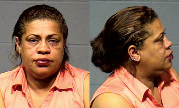 Rhonda Moniz-Carroll was arrested and charged with driving under the influence and failure to drive in the proper lane.