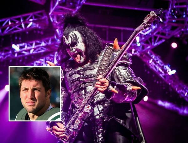 Quarterback Tim Tebow has been given an offer by members of the rock band KISS to join their expansion Arena Football franchise in Los Angeles.