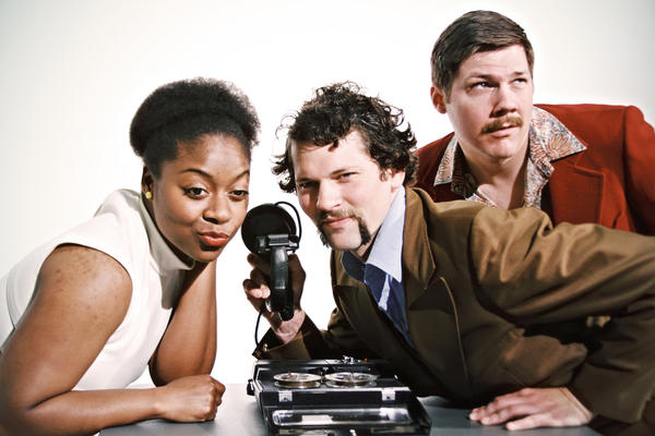 "Pictured left to right: Daeshawna Cook, Kevin Stangler and Wes Needham and in a publicity image for ""B-Side Studio"" co-written by Ike Holter and Evan Linder and directed by Nicholas J. Carroll, Andrew Hobgood and Gus Menary."