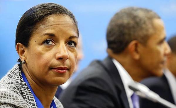 National Security Advisor Susan Rice looks up during a meeting between President Barack Obama and Japanese Prime Minister Shinzo Abe at the G20 Summit in St. Petersburg.
