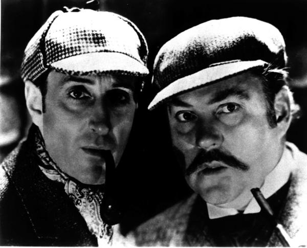 "The journal Neurology is holding a writing contest to complete an unfinished short story penned by the late Dr. Robert Joynt, a lover of Sherlock Holmes mysteries. Above, Basil Rathbone, left, as Sherlock Holmes and Nigel Bruce as Dr. Watson in ""The Adventures of Sherlock Holmes."""