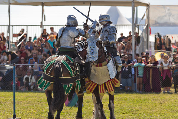Jousting will be just one of the medieval pastimes on show during the 20th annual Age of Chivalry festival in Las Vegas.