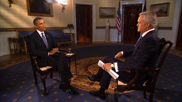 President Obama speaks with Scott Pelley