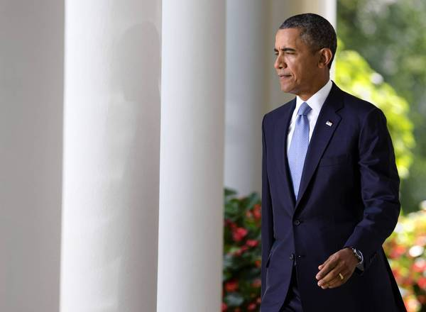 President Obama arrives in the White House Rose Garden last month to deliver remarks on the Syria conflict. He will address the nation Tuesday night to present his case for a military strike against the government of Syrian President Bashar Assad.