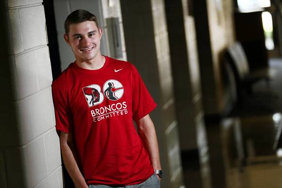 Connor Kobida, 17, a senior at Barrington High School, takes part in Broncos Committed, a group that promotes student health. The swim team member says he's strictly following the guidelines about everything but sleep.