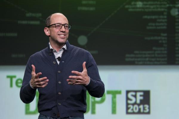 Dick Costolo, chief executive of Twitter, speaks at the TechCrunch Disrupt conference in San Francisco.