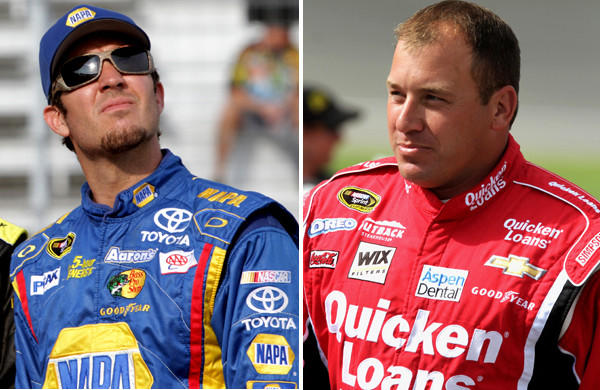Martin Truex Jr., left, is out and Ryan Newman is in NASCAR's Chase for the Cup after penalties were handed down.